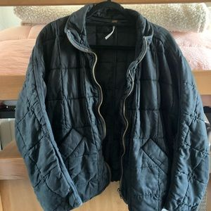 Oversized Dolman Quilted Knit Jacket